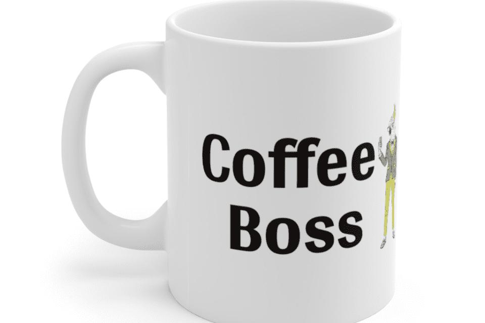 Coffee Boss – White 11oz Ceramic Coffee Mug (5)